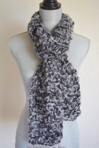 Grey Scarf, Black and Grey Scarf, Knitted Scarf, Hand Knitted Scarf,