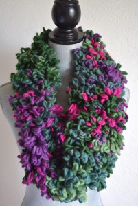 Green Infinity Scarf, Green Scarf