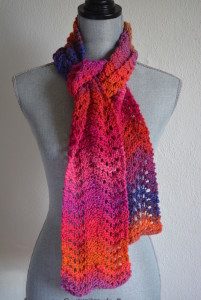 Berry Scarf, Pink Scarf, Red Scarf, Hand Knitted, Knitted Scarf