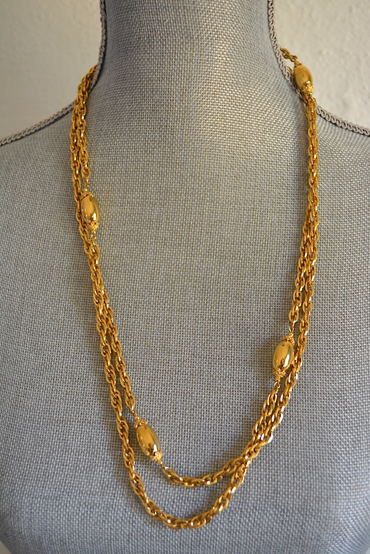SOLD Gold Monet Necklace