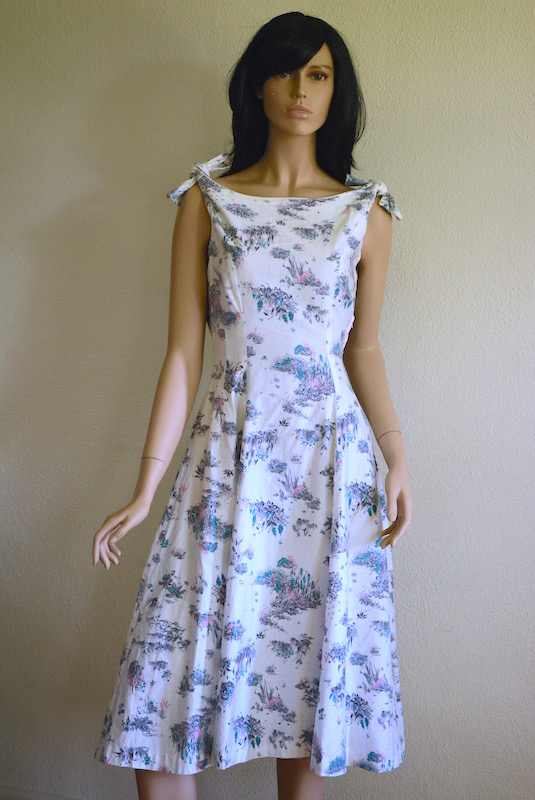 Shoulder Tie Dress, Vintage Dress