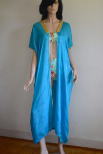 Turquoise Cover-Up, Vintage Clothes, Vintage Cover-Up, Kaftan, Vintage Kaftan