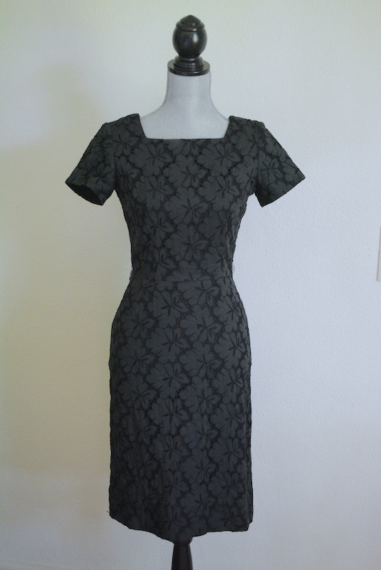 Black Eyelet Dress, Original Franklin Dress, Vintage Dress, Vintage Clothes, Vintage Wiggle Dress, Eyelet Dress