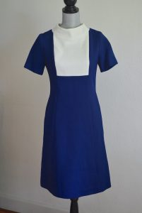 Navy Shift Dress, Burt Stanley, Burt Stanley of California, Vintage Clothes, Vintage Dress, Shift Dress, Blue Dress, Blue and White Dress